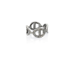 Anchor Chain Link Pavé Ring