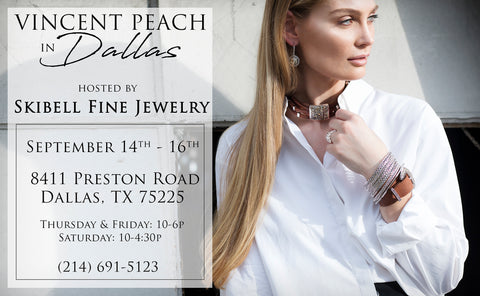 Dallas Texas Fashion Jewelry Trunk Show flyer model editorial wearing chloe