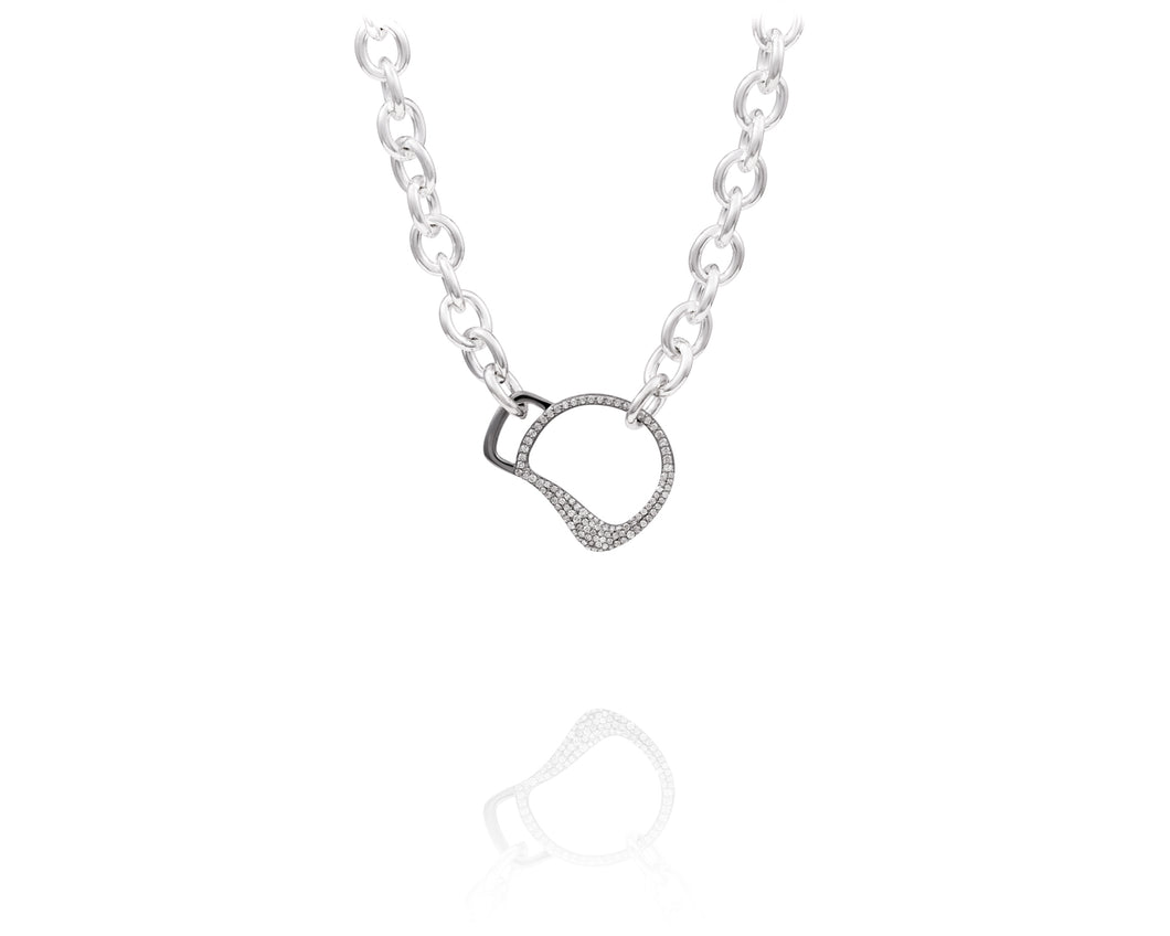 Cheval Bit Chain Necklace | Diamond