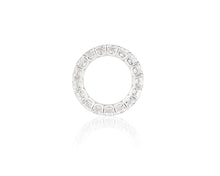 8.5ct 14kt White Gold Cushion Cut Diamond Band