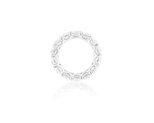 10.16ct 18kt White Gold Cushion Cut Diamond Band