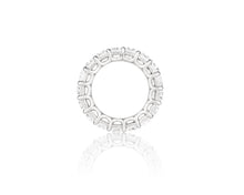 12.31ct 18kt White Gold Emerald Cut Diamond Band