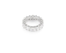 8.67ct 18kt White Gold Radiant Cut Diamond Band