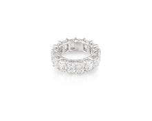 11.35ct 18kt White Gold Radiant Cut Diamond Band