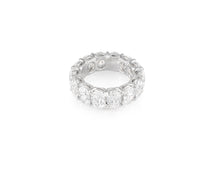 9.89ct 18kt White Gold Oval Cut Diamond Band