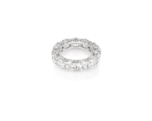 9.21ct 18kt White Gold Round Cut Diamond Band