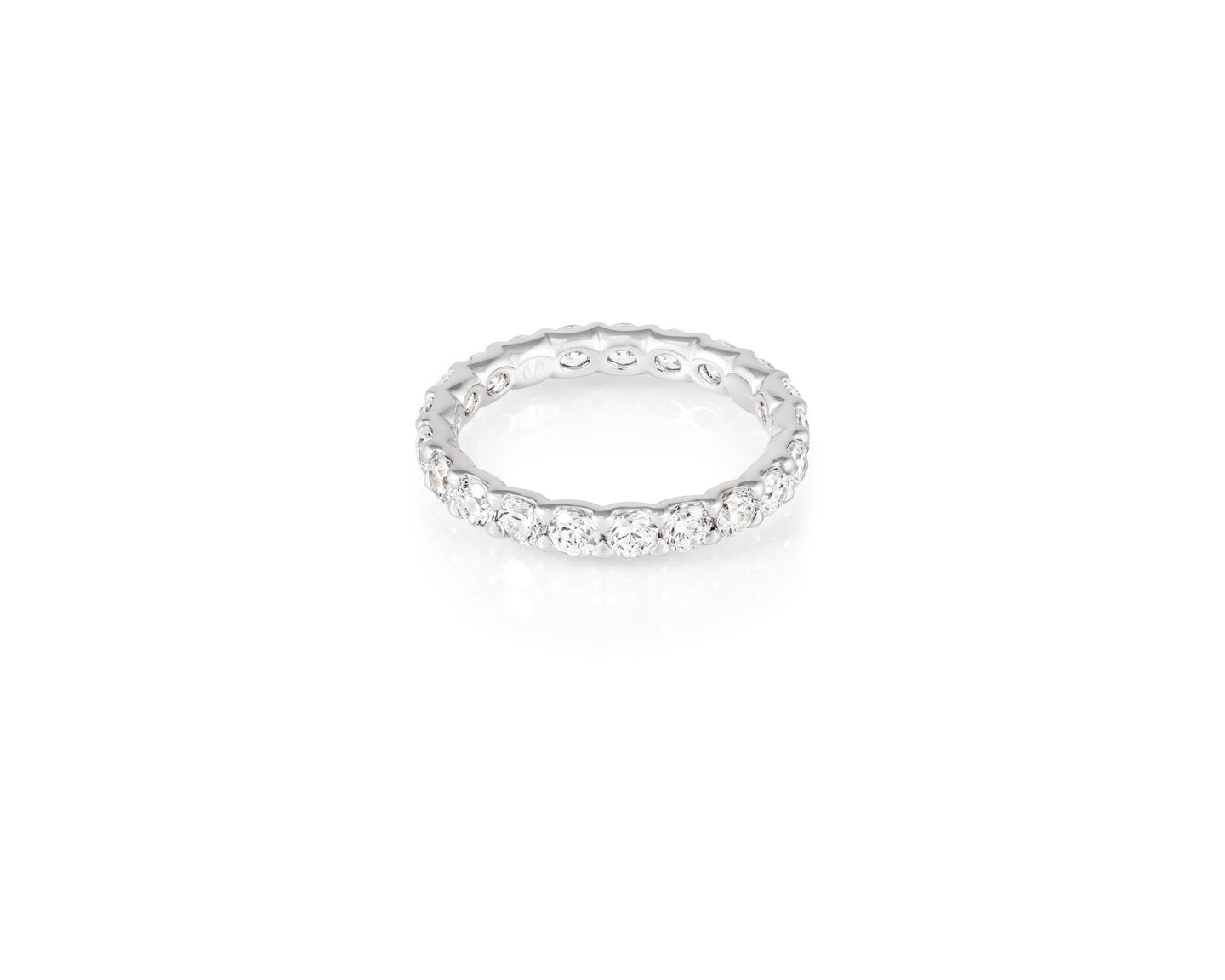 2.05ct 18kt White Gold Round Cut Diamond Band
