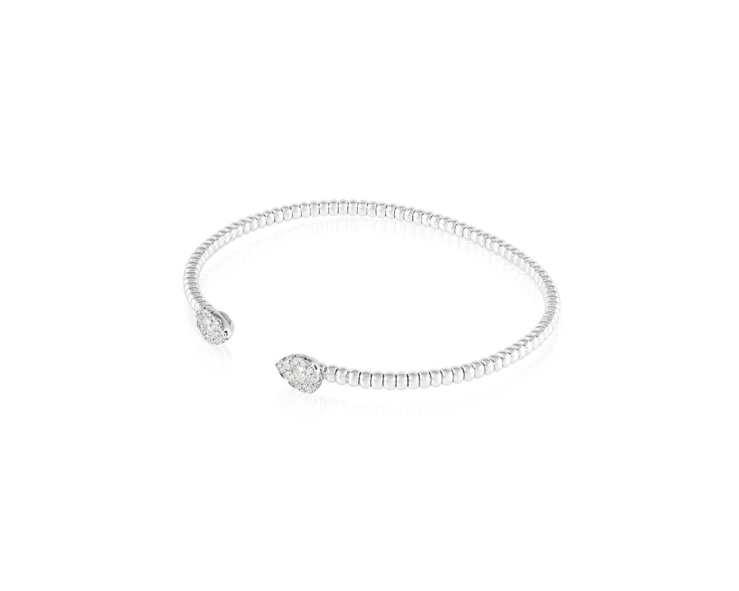 .56ct Diamond 18kt White Gold Teardrop Bangle