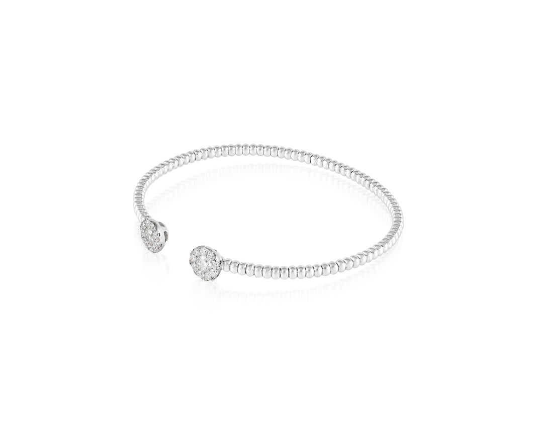 .56ct Diamond 18kt White Gold Bangle