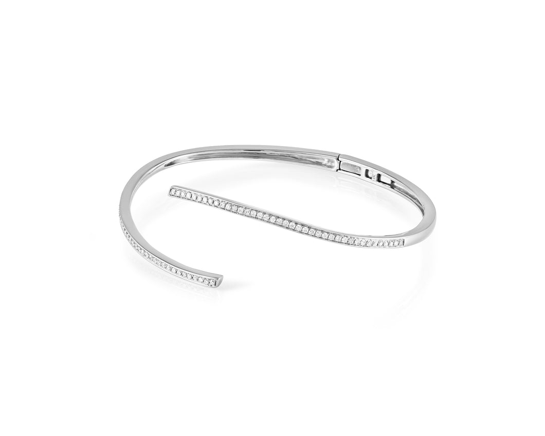 .55ct Diamond, 14kt White Gold Open Bangle