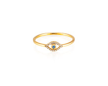 Evil Eye Stackable Ring