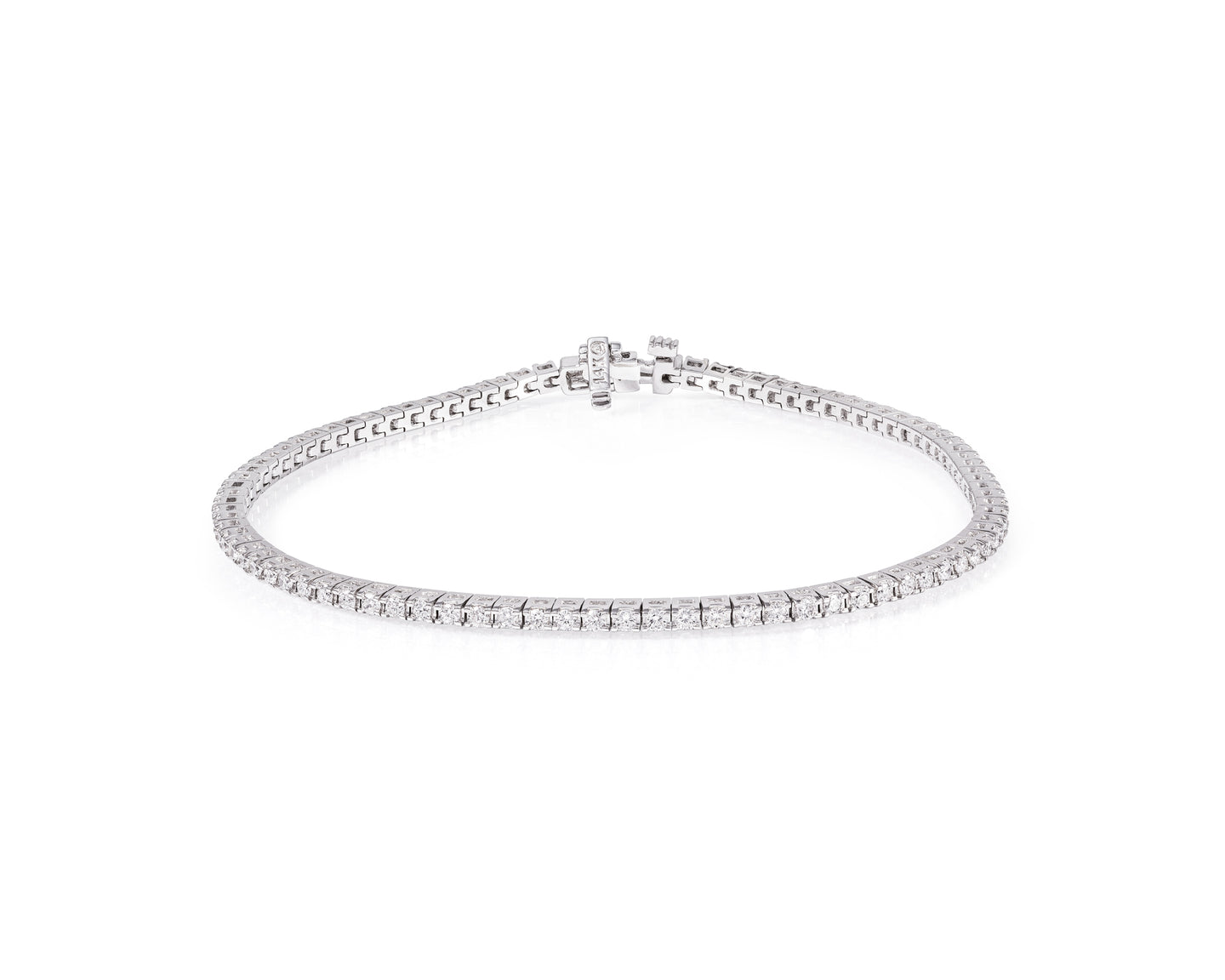 2ct Diamond and White Gold Tennis Bracelet