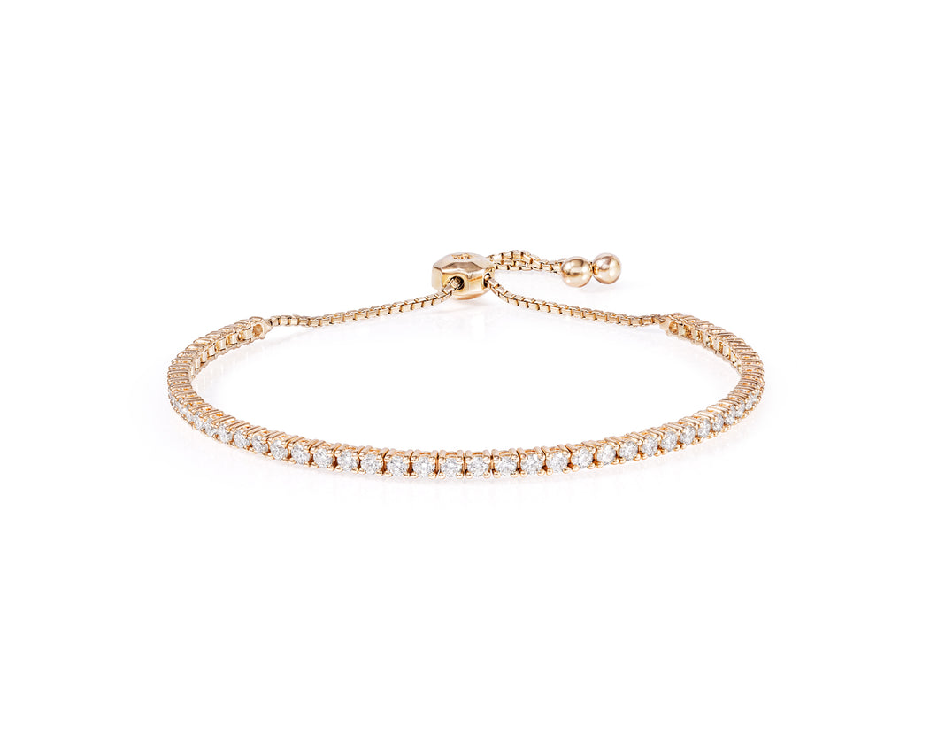2ct Diamond Tennis Bracelet on 14kt Gold