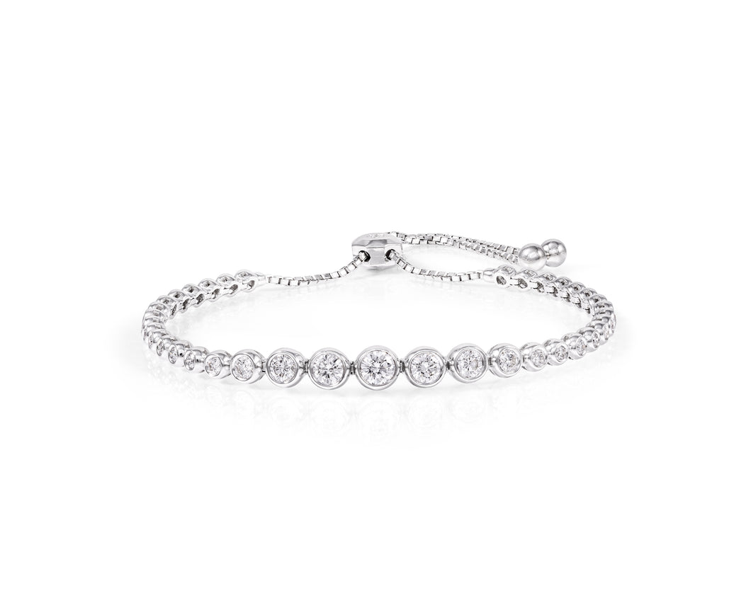 1.7ct Diamond Tennis Bracelet on 18kt White Gold