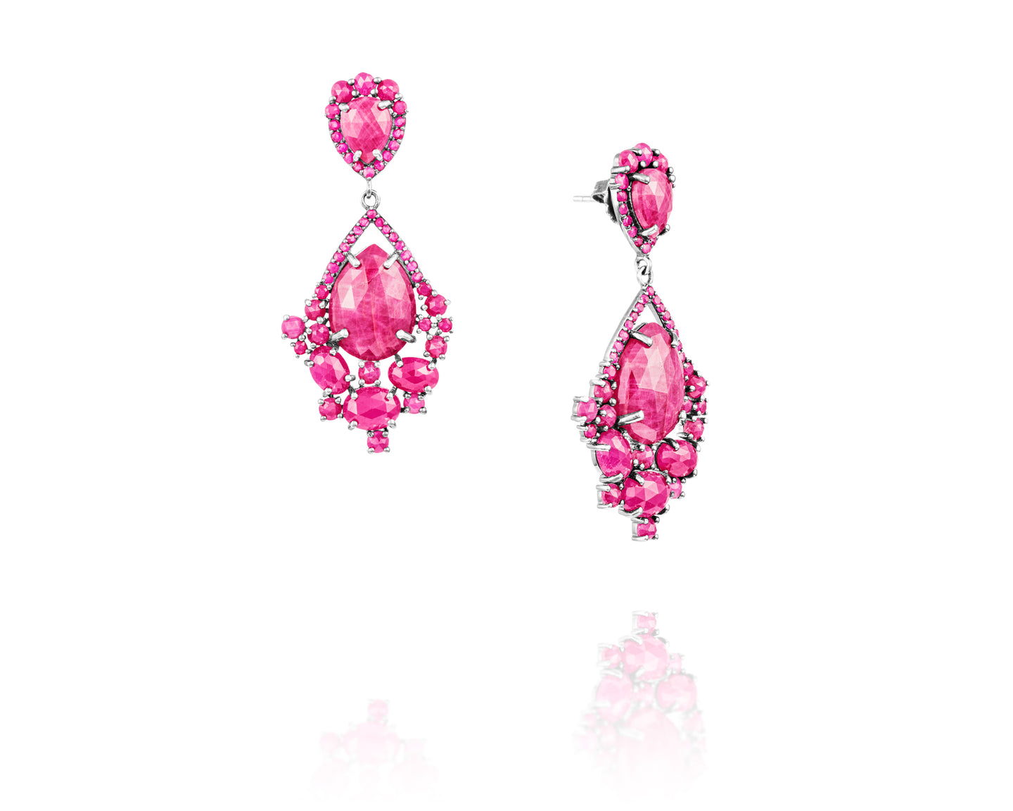 .27ct Diamond Cut Ruby Earrings