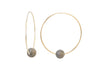 Biltmore Hoop Earrings - Hottest Designer Pearl and Leather Jewelry | VINCENT PEACH  - 3