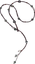 Bohemian Lariat, Tahitian - Hottest Designer Pearl and Leather Jewelry | VINCENT PEACH
