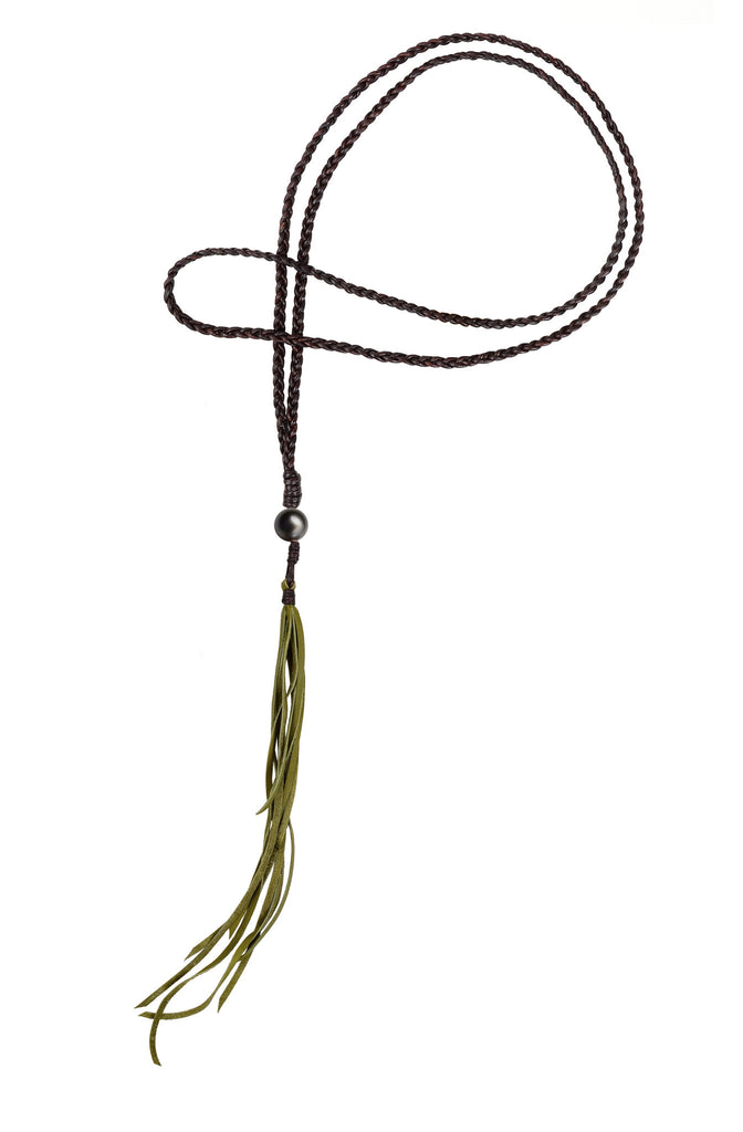 Bohemian Fringe Necklace, Tahitian - Hottest Designer Pearl and Leather Jewelry | VINCENT PEACH  - 5