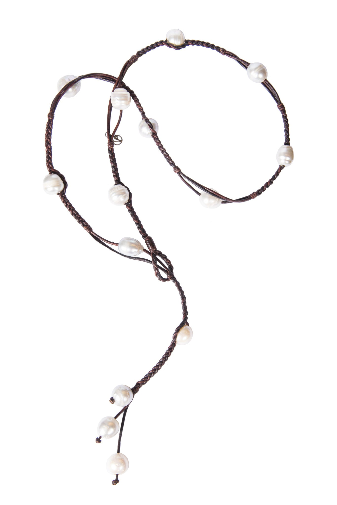 Bohemian Lariat SS - Hottest Designer Pearl and Leather Jewelry | VINCENT PEACH