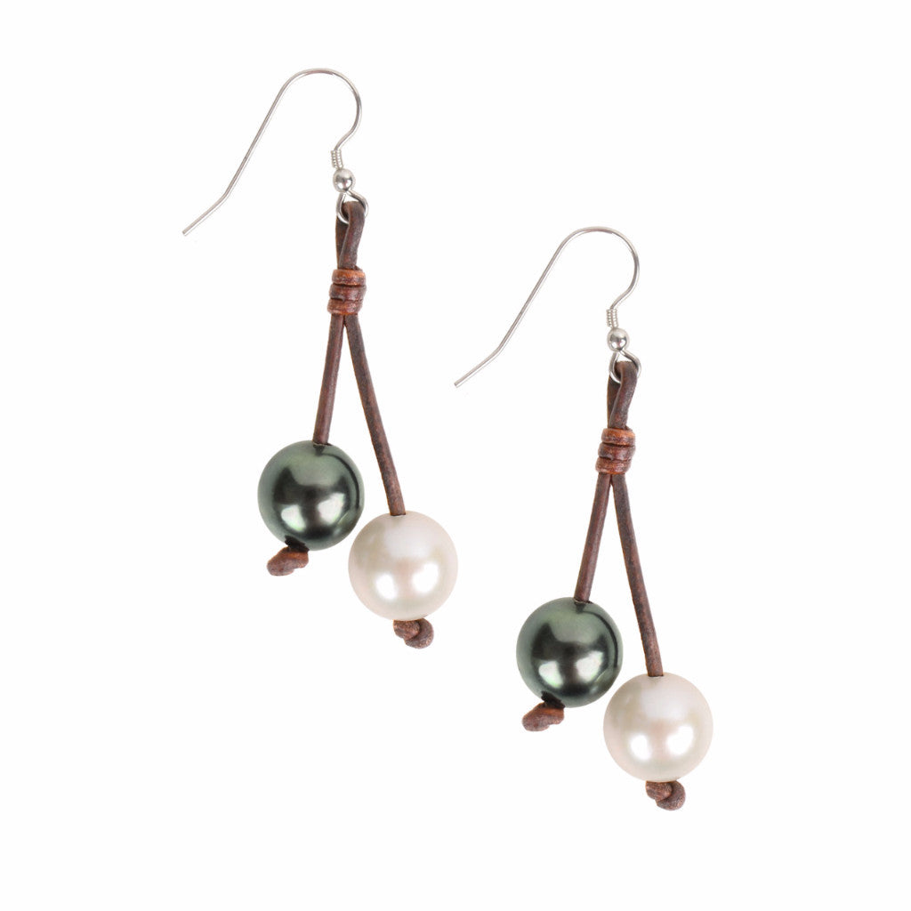 Boho Tassel Earrings - Hottest Designer Pearl and Leather Jewelry | VINCENT PEACH  - 1