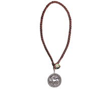 Vintage Greek Coin Leather Necklace with Tahitian Pearl