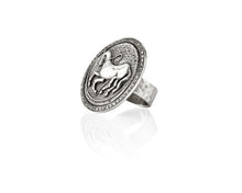 Diamond Trojan Coin Ring