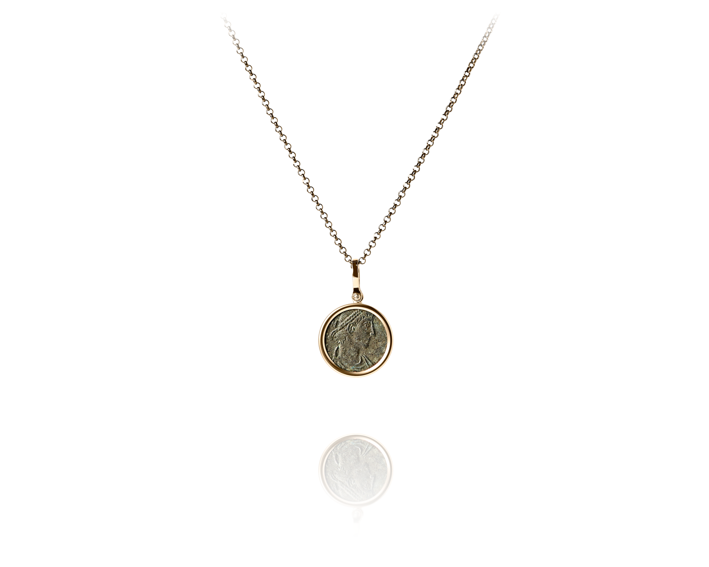 product midi roman gold shop necklace draper coin daniella