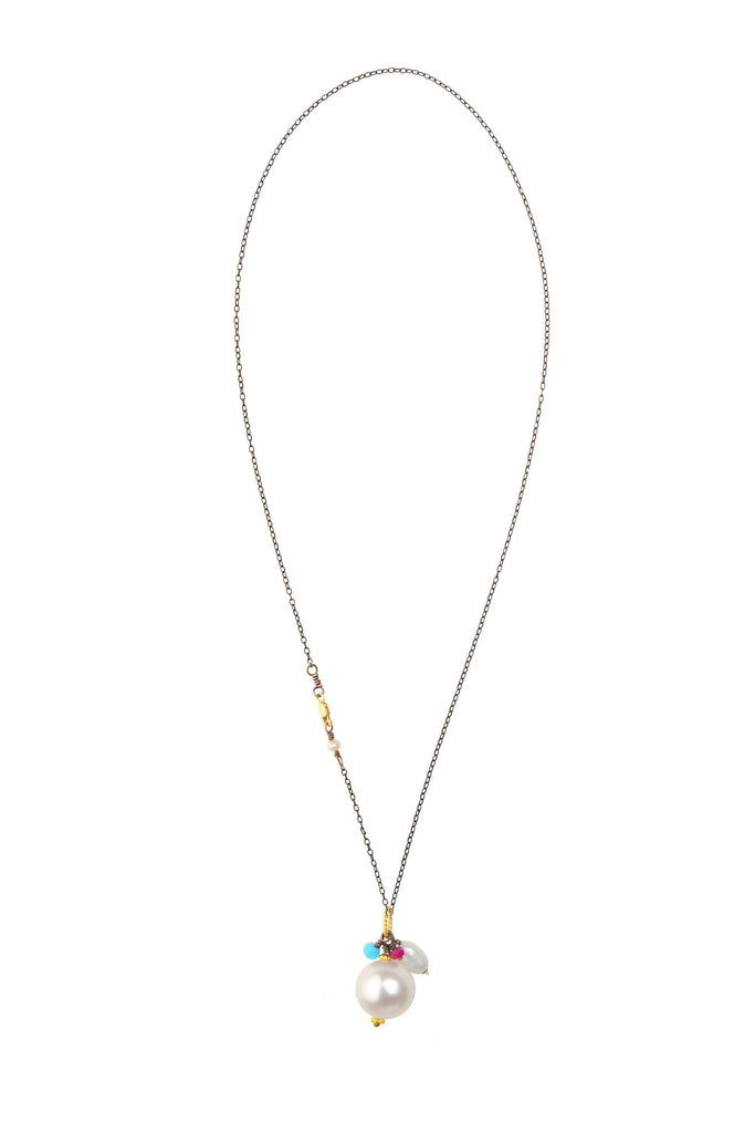 Royal Drop Necklace, Chain - Hottest Designer Pearl and Leather Jewelry | VINCENT PEACH  - 2