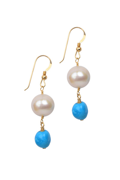 Demure Sleeping Beauty Earrings, Freshwater - Hottest Designer Pearl and Leather Jewelry | VINCENT PEACH  - 1