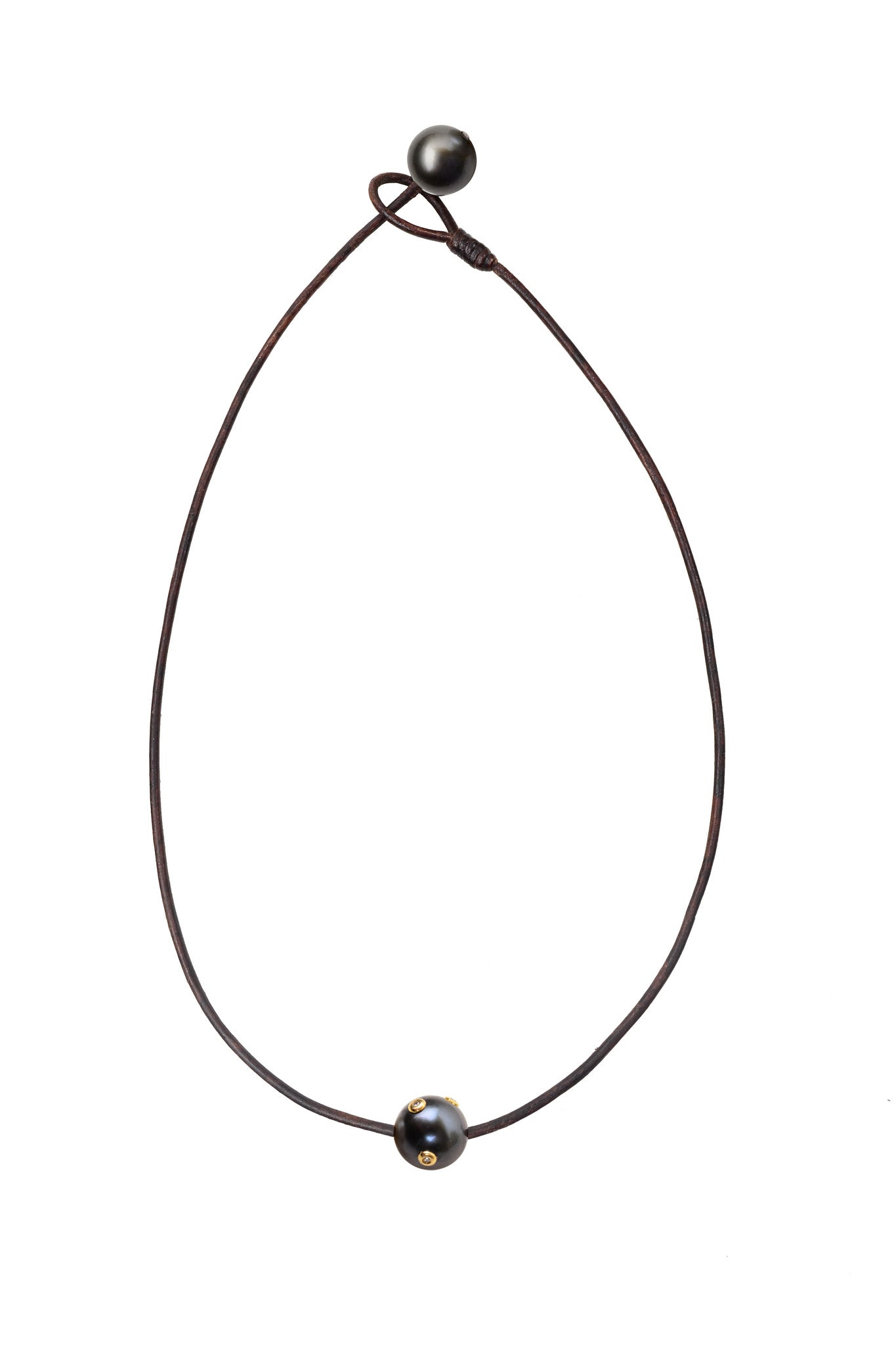 Camelot South Sea Necklace, Tahitian - Hottest Designer Pearl and Leather Jewelry | VINCENT PEACH  - 3