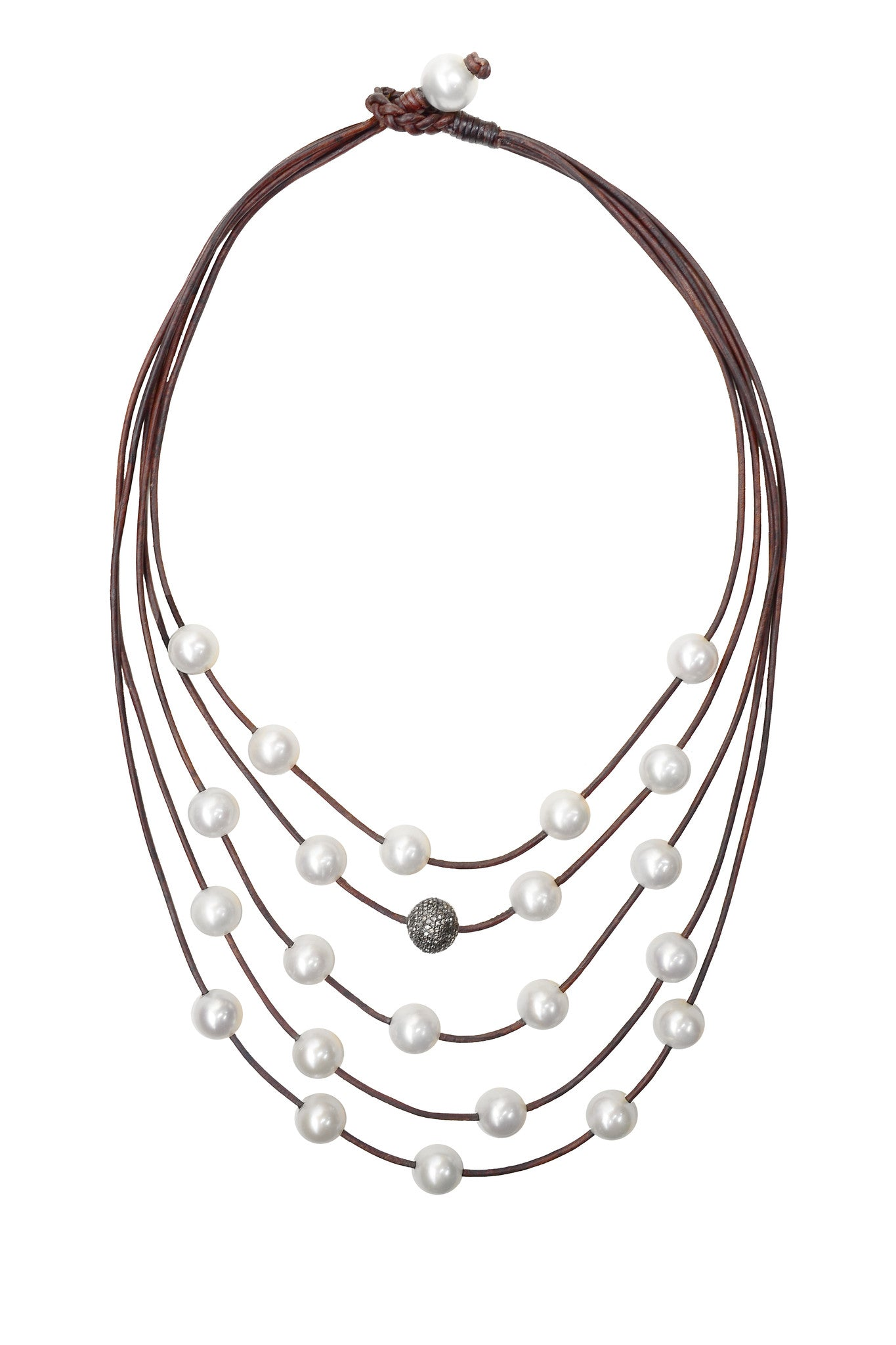 Constellation Necklace, Pavé and Freshwater Pearls - Hottest Designer Pearl and Leather Jewelry | VINCENT PEACH