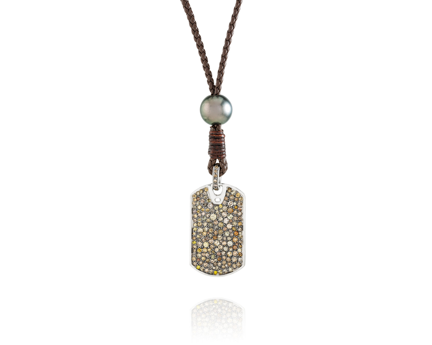 4.3ct Diamond Dog Tag Necklace