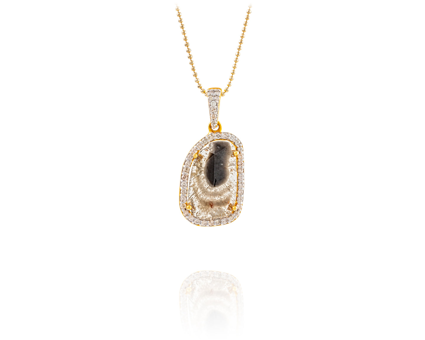 1.9ct Rosecut Diamond Royal Drop Necklace