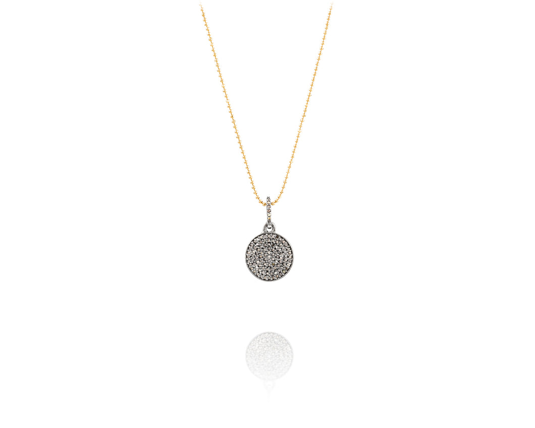 Pavé Disc Chain Necklace