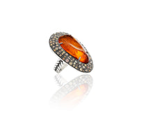 4.9ct Fire Opal Ring