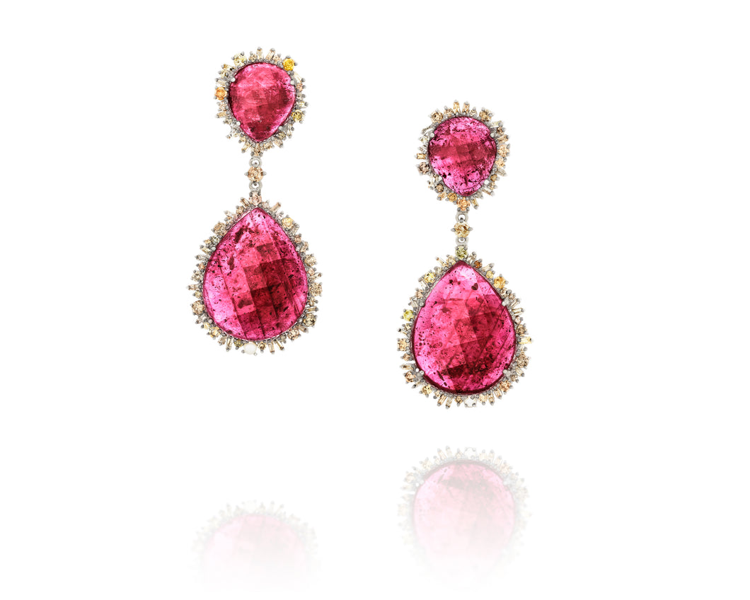 6.6ct Episodic Ruby Earrings