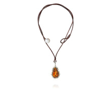 2.45ct Episodic Fire Agate Pendant Necklace
