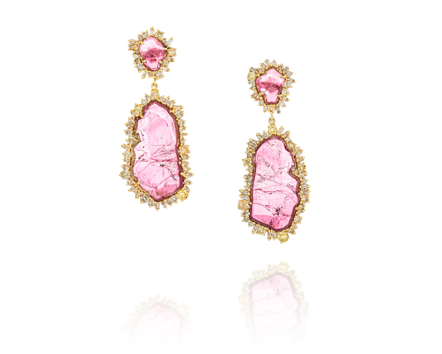 Red Tourmaline Episodic Earrings