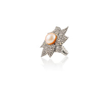 2.86ct Episodic Pink Pearl Flower Ring