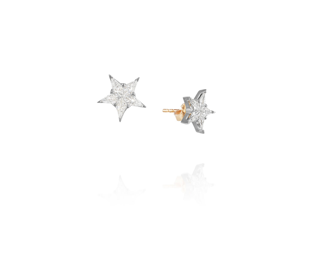 .93ct Diamond Star Post Earrings