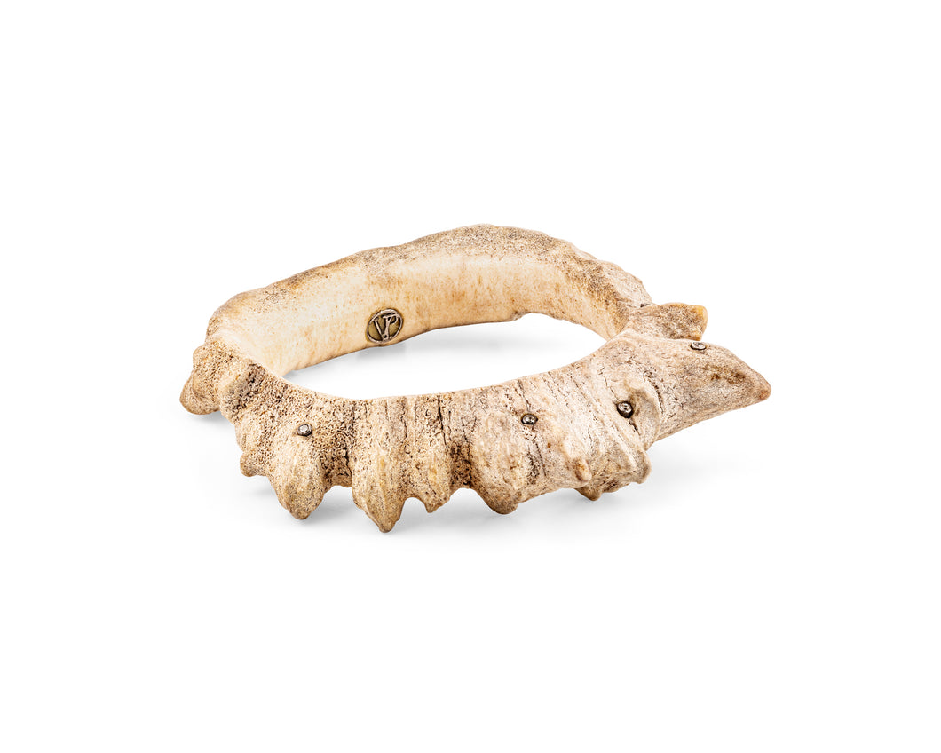Large Moose Crown Bangle