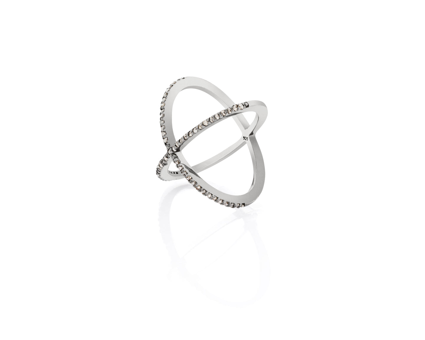 Intersection Diamond Ring