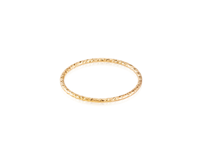 Yellow Gold-Filled Sparkle Stackable Ring