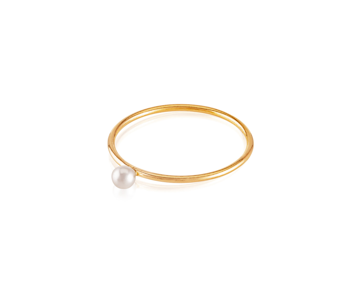 14kt Gold VP Stackable Pearl Ring