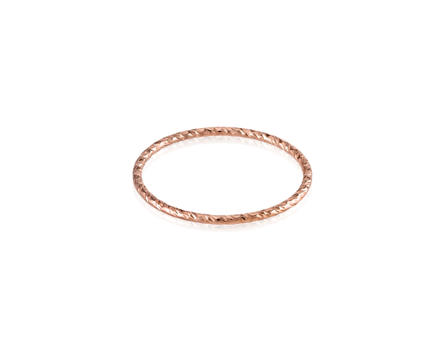 Rose Gold-Filled Sparkle Stackable Ring