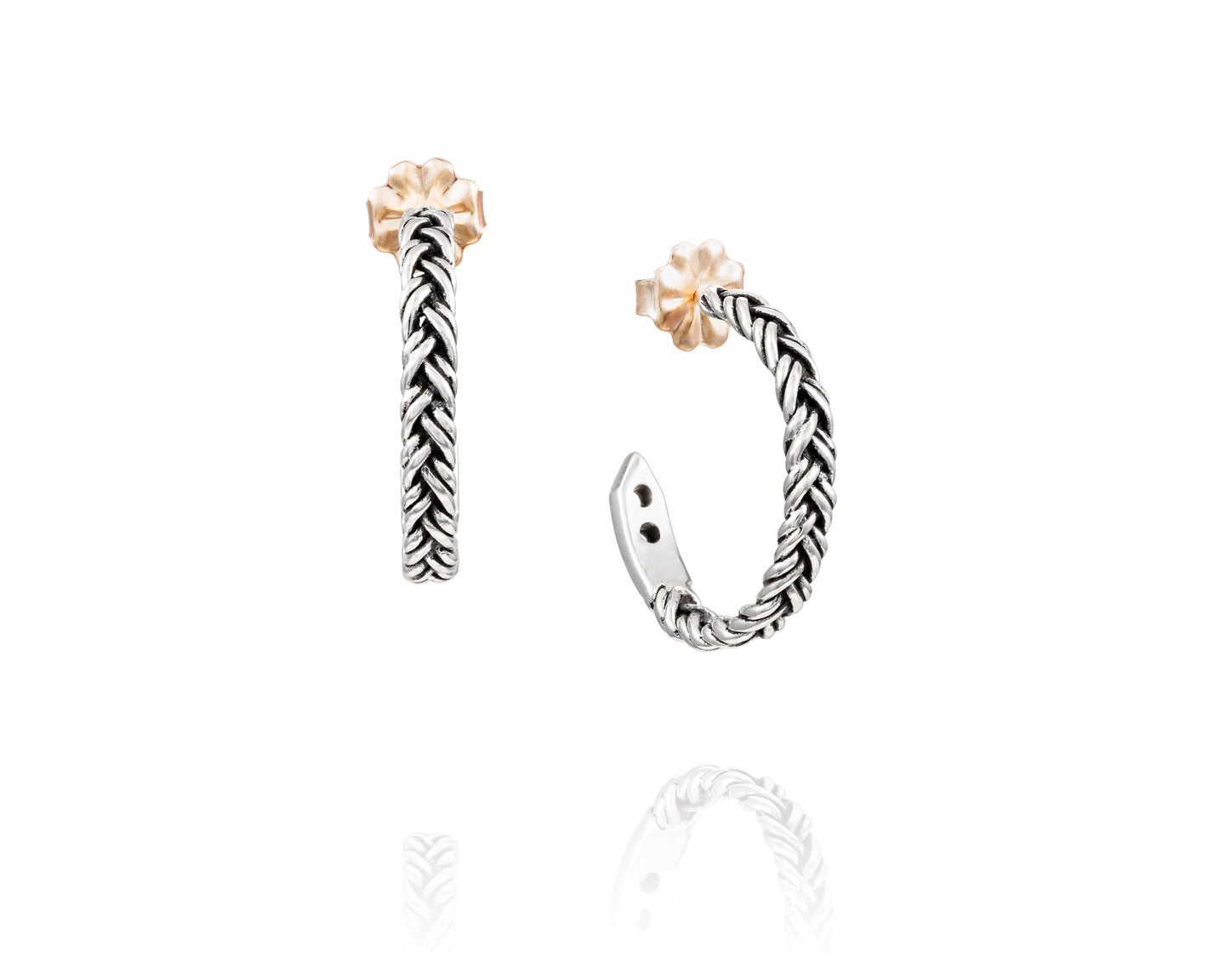 Small Braided Hoop Earrings