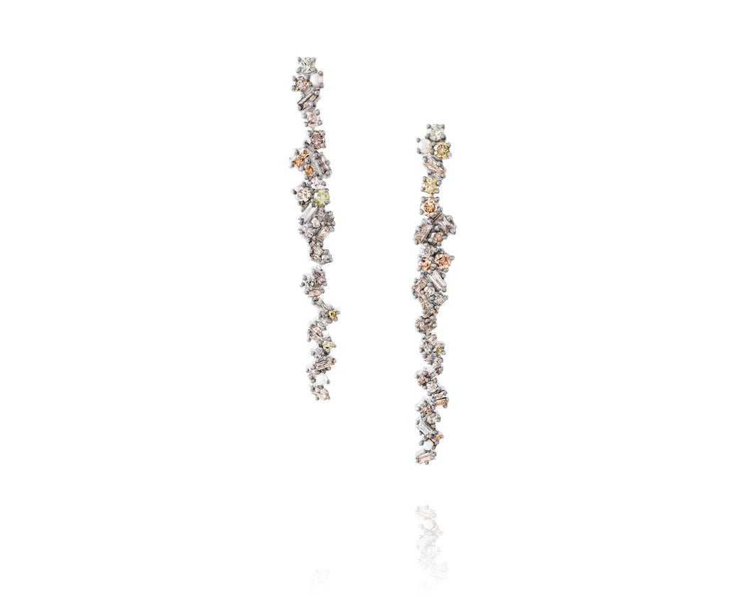 3.1ct Episodic Diamond Cosmos Earrings