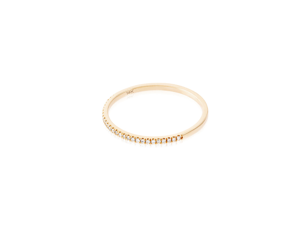 14kt Gold Stackable Diamond Ring