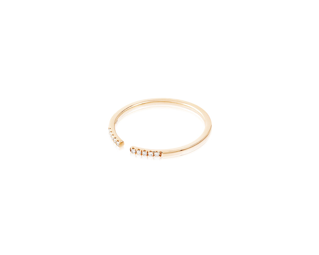 14kt Gold Split Stackable Diamond Ring