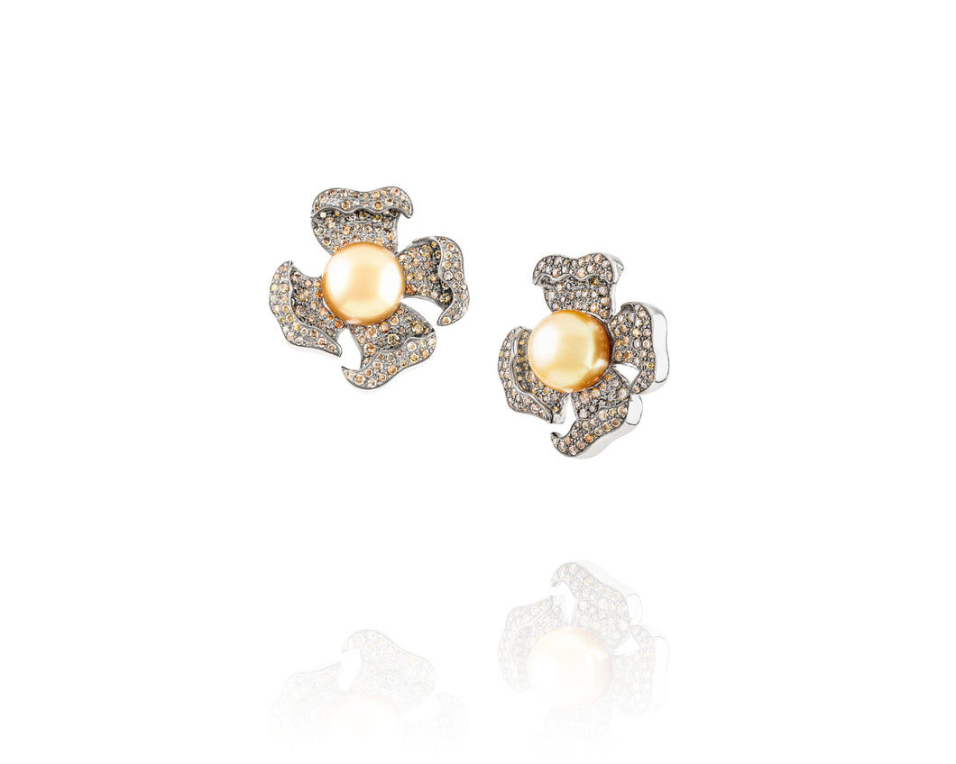Australian Primrose Diamond Earrings